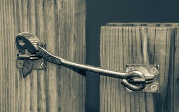 the fence, wicket, hasp, valve