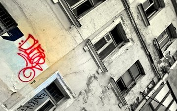 style, the city, house, windows, grafiti, history
