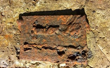 stones, texture, style, the wallpapers, iron, rust, concrete