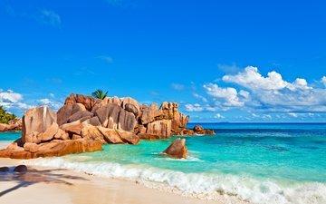 sea, beach, island, tropics, 7, seychelles
