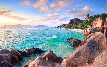 sea, beach, islands, tropics, seychelles, 8
