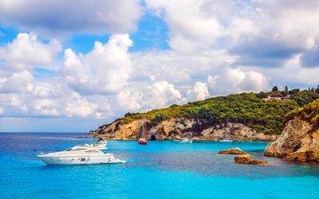 landscape, sea, yachts, 4