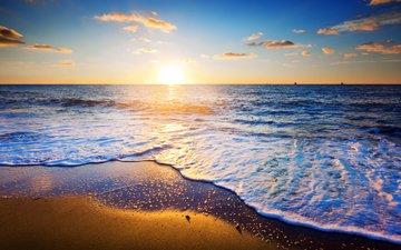 закат, море, пляж, 10