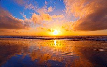 sunset, landscape, sea, 11