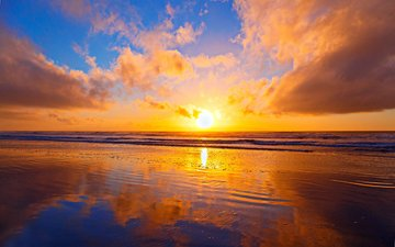 закат, пейзаж, море, 11