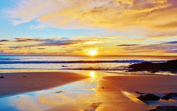 закат, море, пляж, 13