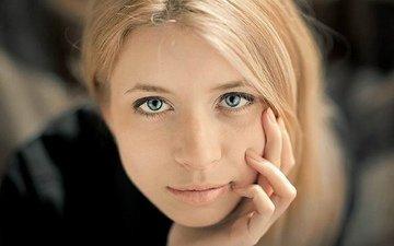 глаза, девушка, фон, красавица, волосы, лицо, милашка, русская, крупно, миленько