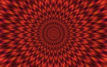 красный, 3d графика, иллюзии, вибрант, вибрирующий, раздражение, дрожащий, vibrant
