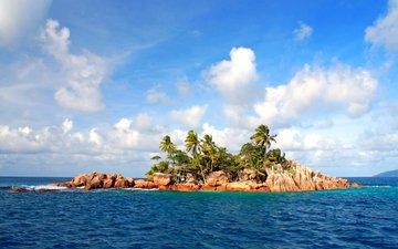 sea, island, tropics, seychelles