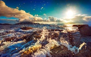 nature, wave, sea