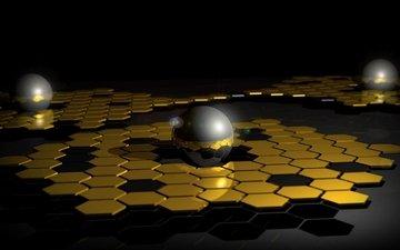 balls, shadow, mesh, dark, surface