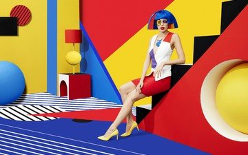 style, girl, design, sagmeister & walsh, polychrome