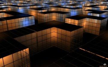 glow, mesh, figure