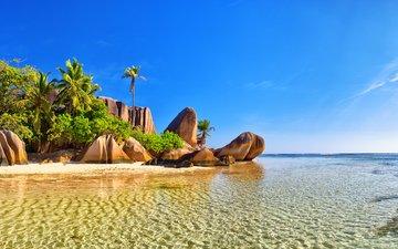 sea, beach, island, tropics, seychelles, sh