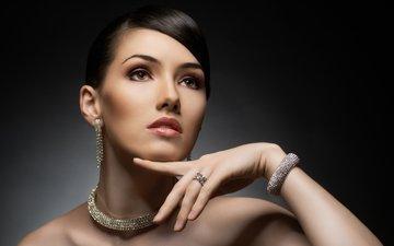 девушка, портрет, взгляд, модель, волосы, лицо