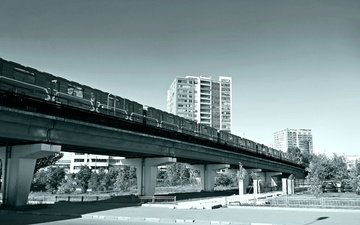 bridge, metro, the car, overpass, artcurial, fitness center, train