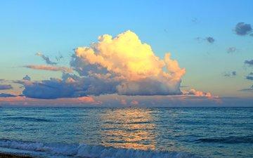вечер, море, пляж, 9