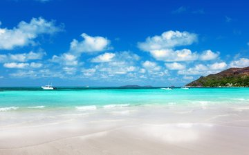 sea, beach, boats, islands