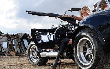 девушка, бросок кобры, девушка в машине, девушка в кобре