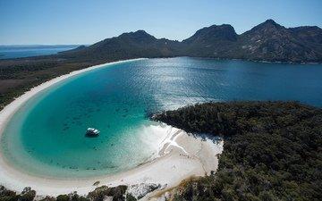 coast, bay, the ocean, yacht, tasmania