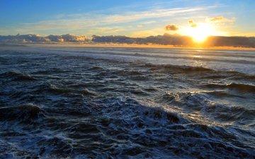 sunset, landscape, sea, 10