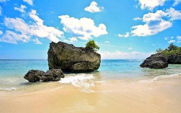 stones, sea, beach