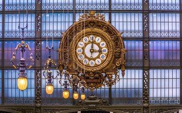 lights, watch, paris, france, robert c. schmalle, musee d'orsay