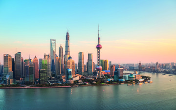 the city, shanghai, megapolis, china