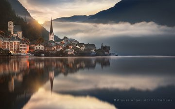 lake, the city, austria, hallstadt