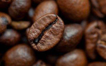 макро, зерна, кофе, кофейные зерна