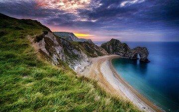 rocks, nature, landscape, sea, coast, arch