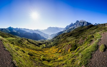 the sky, mountains, nature, landscape, moss, juan ignacio cuadrado