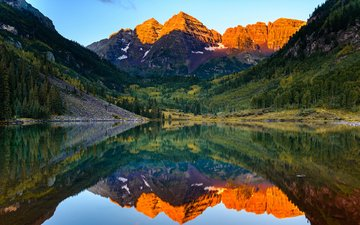lake, mountains, nature, reflection, landscape