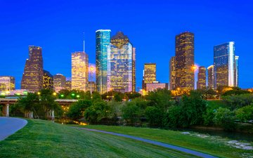 the city, usa, texas, houston