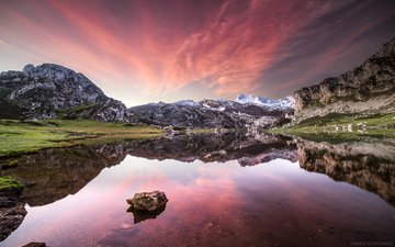 lake, mountains, nature, reflection, juan ignacio cuadrado