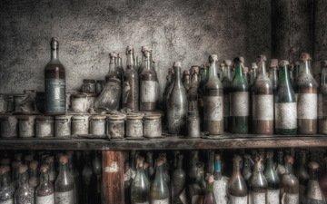 вино, пыль, бутылки, подвал, банки, полки