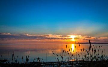 lake, sunset, 5