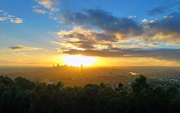 sunset, the city, 7