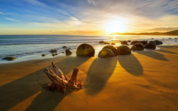 sunset, sea, beach, 8