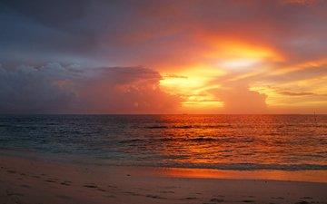sunset, sea, beach, 13