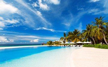 sea, beach, pool, resort, tropics, the maldives, 14