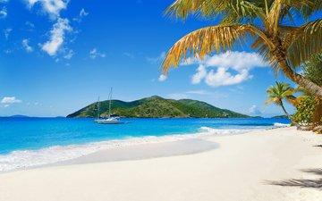 sea, beach, yachts, tropics, 18