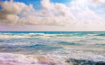 wave, sea, beach