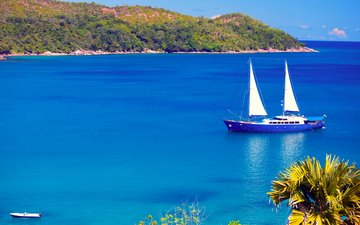 sea, islands, yacht