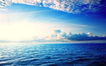 clouds, sea