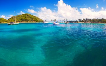sea, yachts, islands, tropics, 16