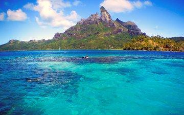 sea, island, tropics, bora bora, 17