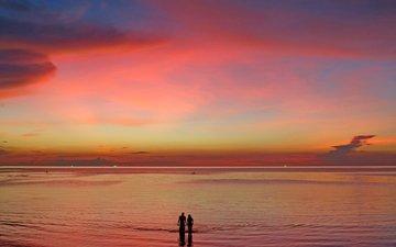 закат, море, 4