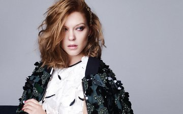 girl, look, hair, face, actress, lea seydoux, lee seydoux