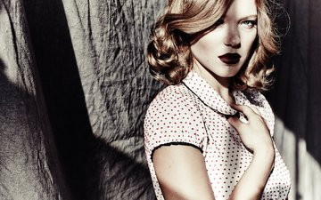 style, girl, portrait, look, hair, lips, face, actress, photoshoot, lea seydoux